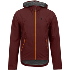 PEARL iZUMi Monsoon WXB Hooded Jacket Men, garnet/lava